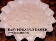 Pineapple Dessert in serving bowl