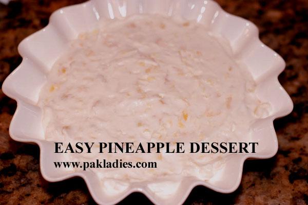 Easy Pineapple Dessert