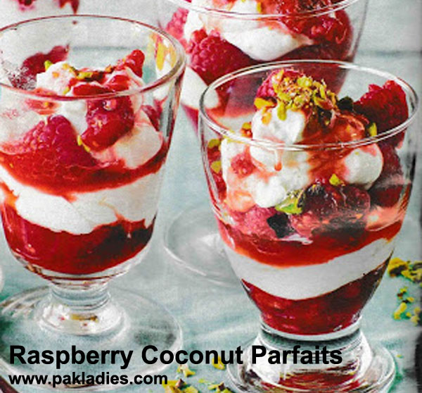 Raspberry Coconut Parfaits